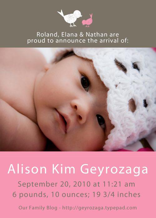 Baby Ali Announcement