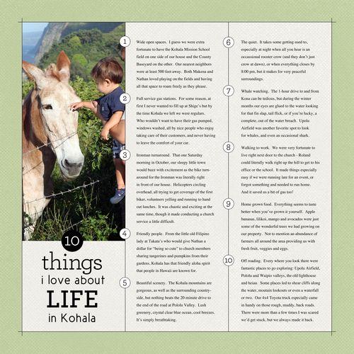 Kohala-10 Things